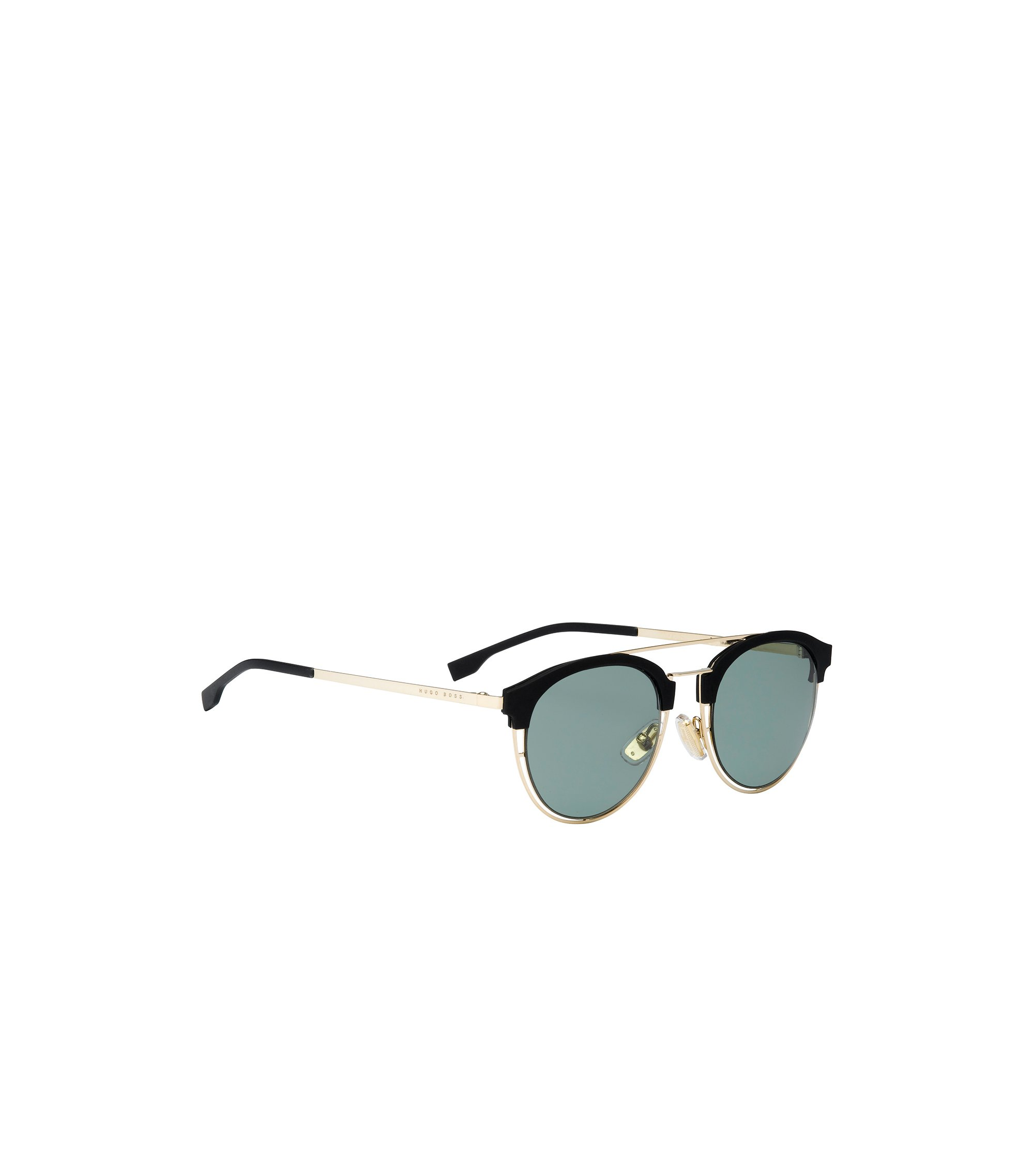 Gold-coloured sunglasses with rubberised trim: 'BOSS 0784/S', Gold