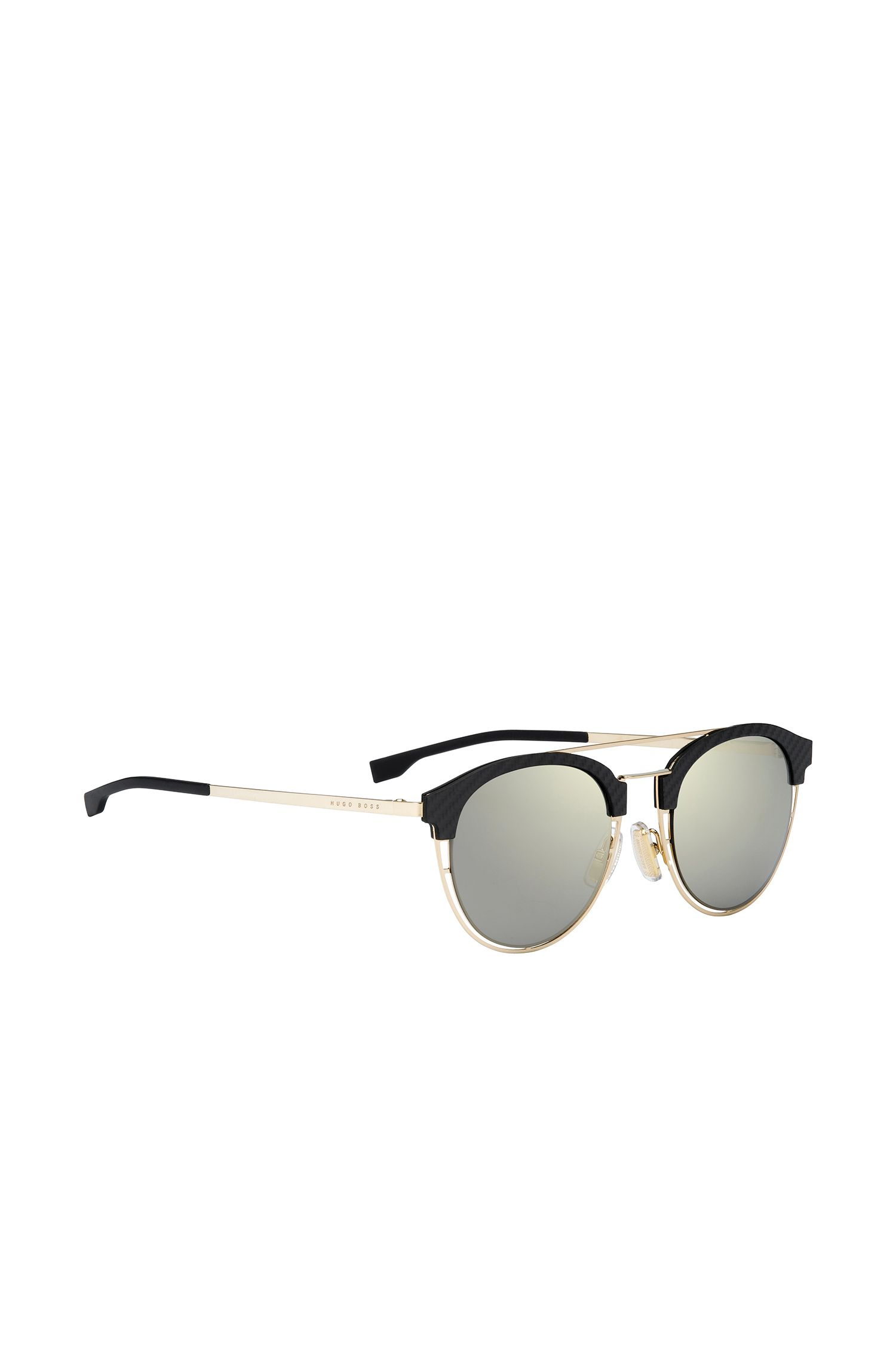 Gold-coloured sunglasses with carbon fibre trim on the frames: 'BOSS 0784/S'