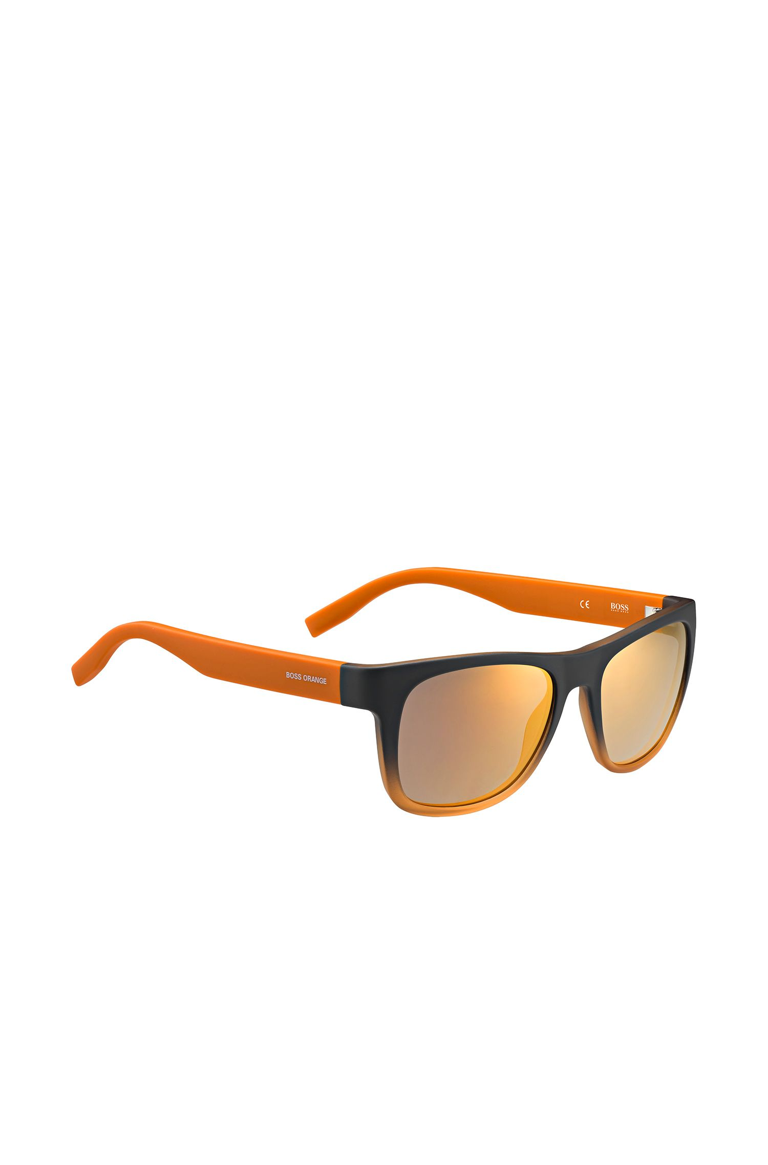 Sunglasses in orange and grey with 5-stud hinges: 'BO 0249/S'