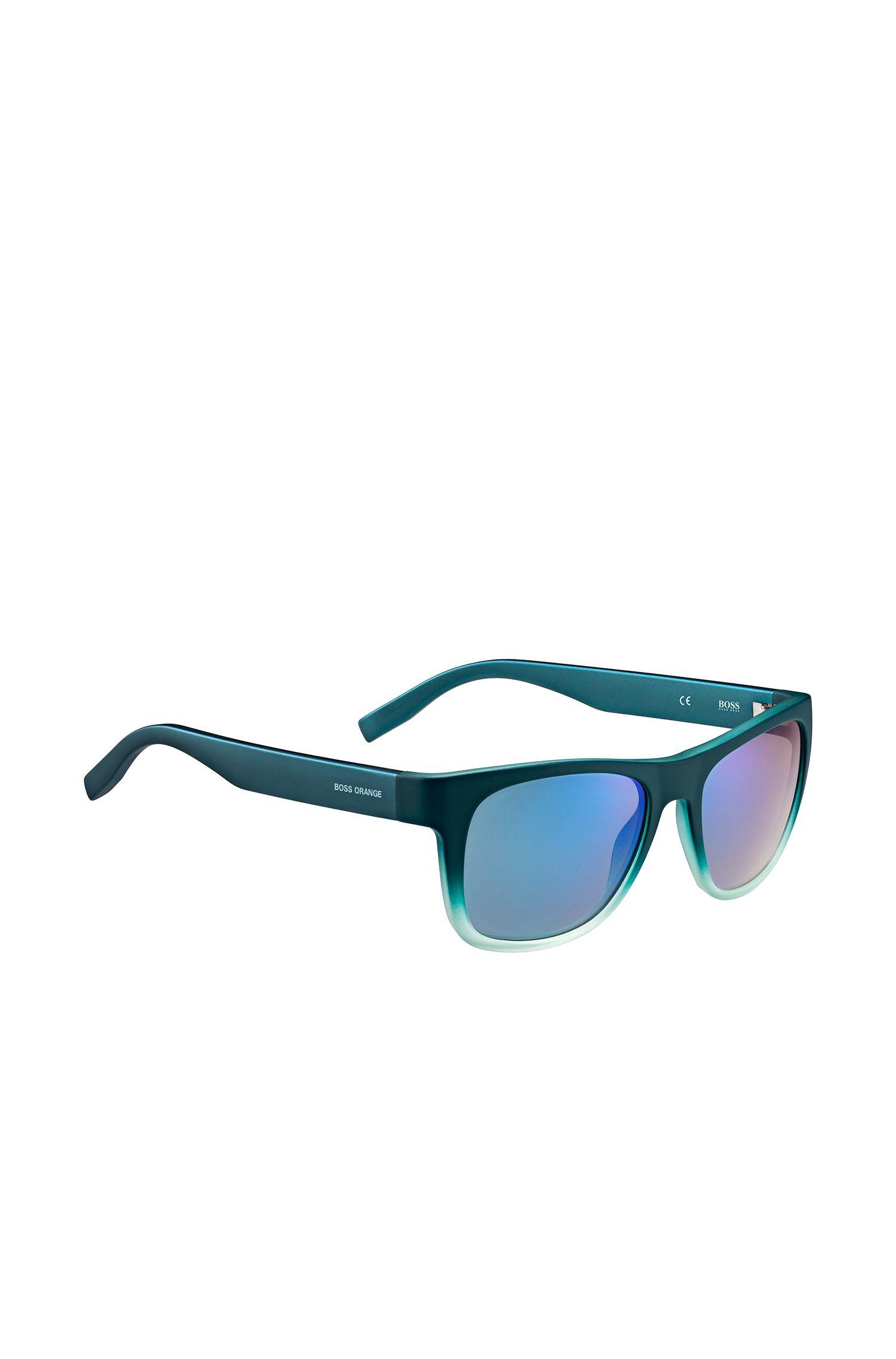 Petrolfarbene Sonnenbrille mit Fünf-Nieten-Scharnier: 'BO 0249/S'