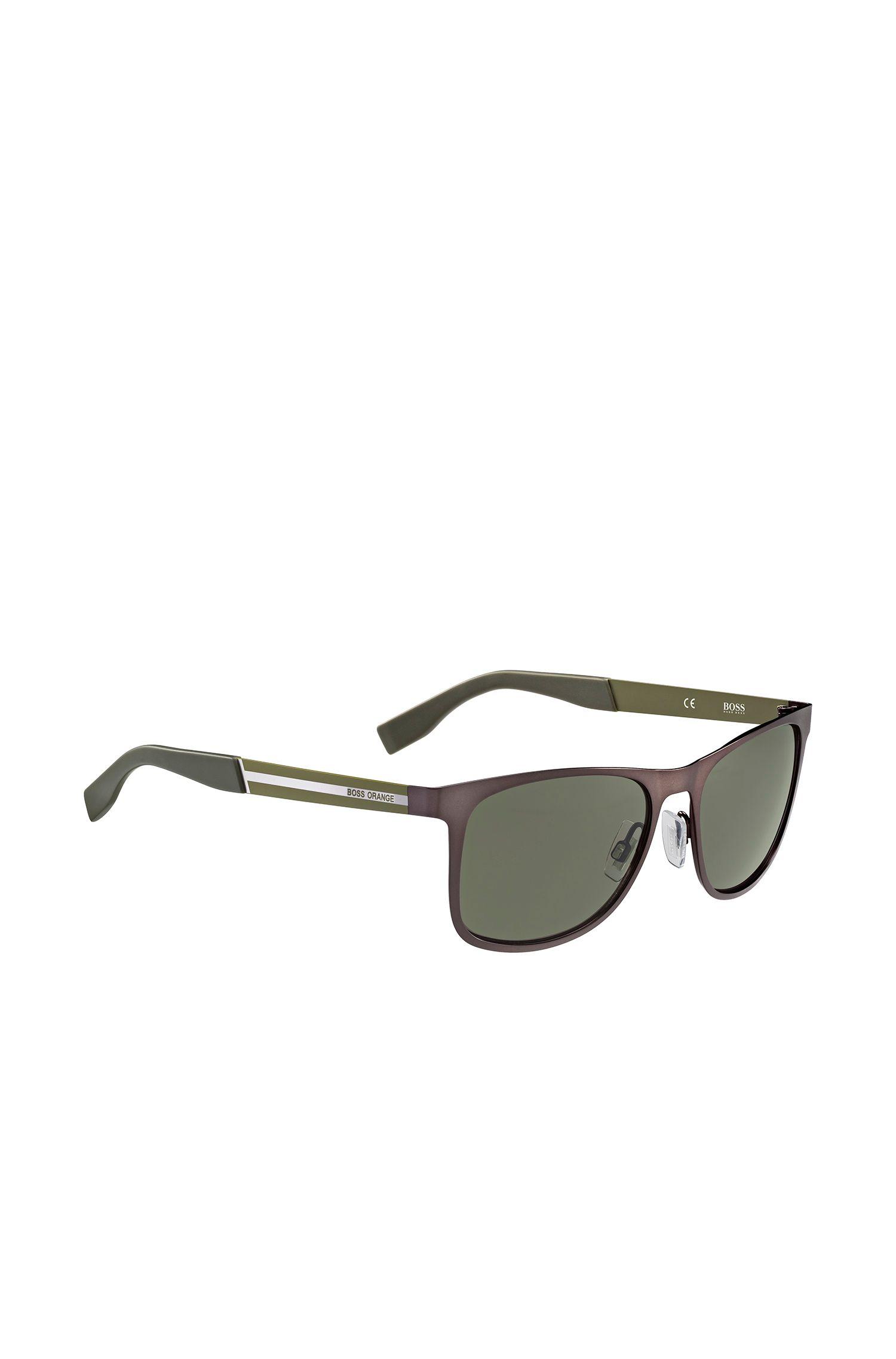 Braun-grüne Sonnenbrille aus Edelstahl: 'BO 0244/S'