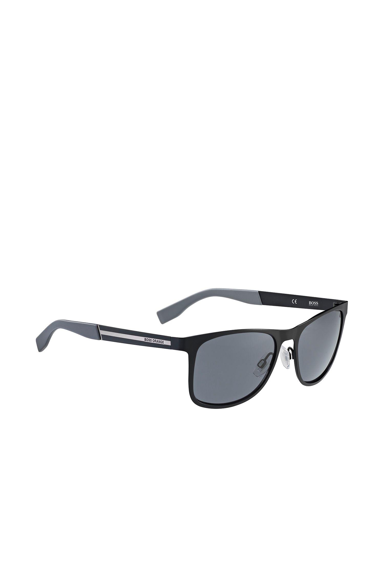 Schwarze Sonnenbrille aus Edelstahl: 'BO 0244/S'
