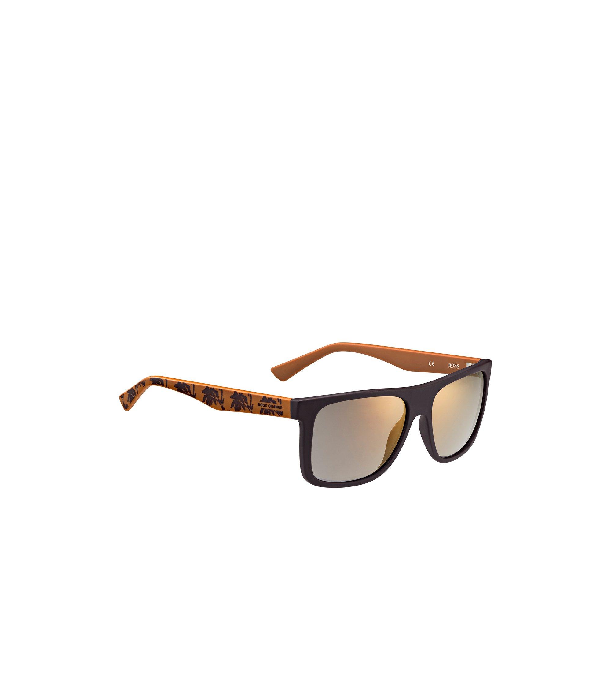 Donkerbruine zonnebril met poten met dessin: 'BO 0235/S', Assorted-Pre-Pack