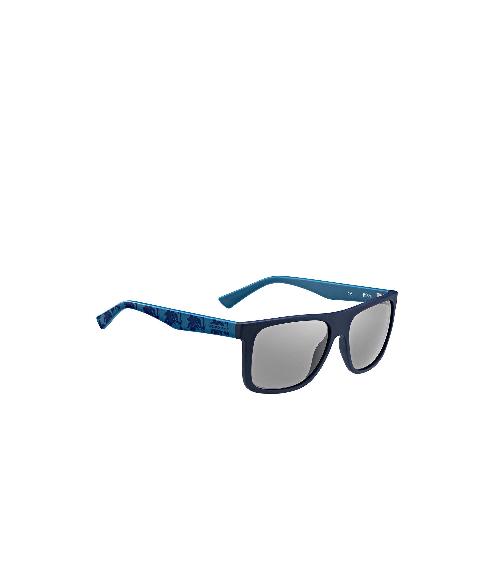 Blaue Sonnenbrille mit gemusterten Bügeln: 'BO 0235/S', Assorted-Pre-Pack
