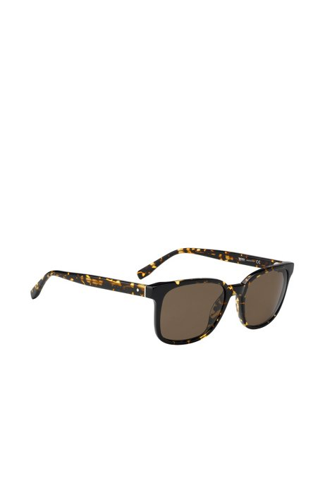 Sunglasses with Havana pattern: 'BOSS 0802', Patterned