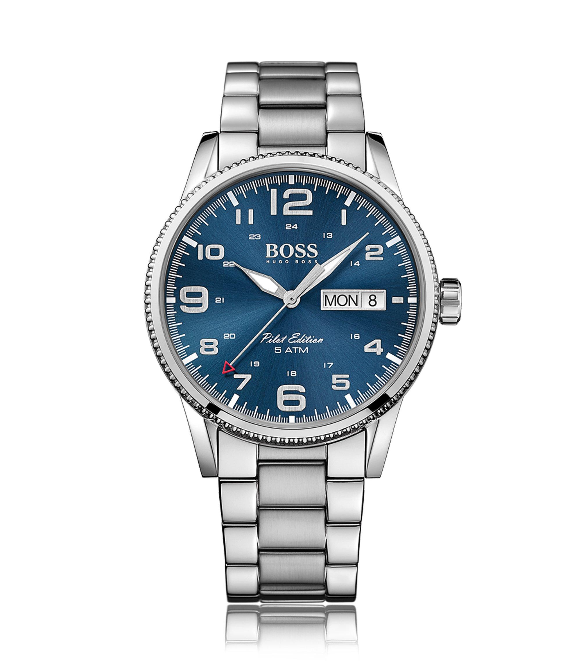 Armbanduhr mit Quarzwerk und zentraler Sekunde: 'Pilot Vintage', Assorted-Pre-Pack