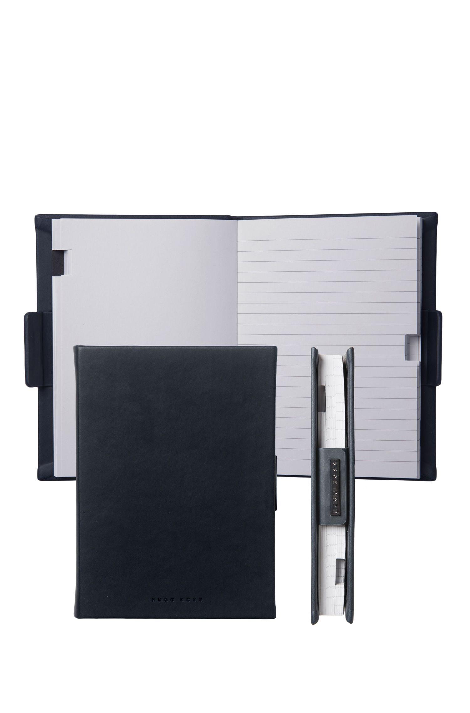 Liniertes A6-Notizbuch mit Einband in Leder-Optik