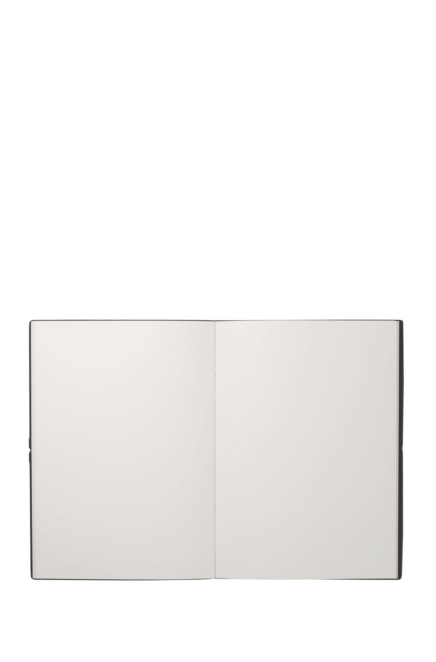 DIN-A5-Notizbuch mit Einband aus Kunstleder, Schwarz