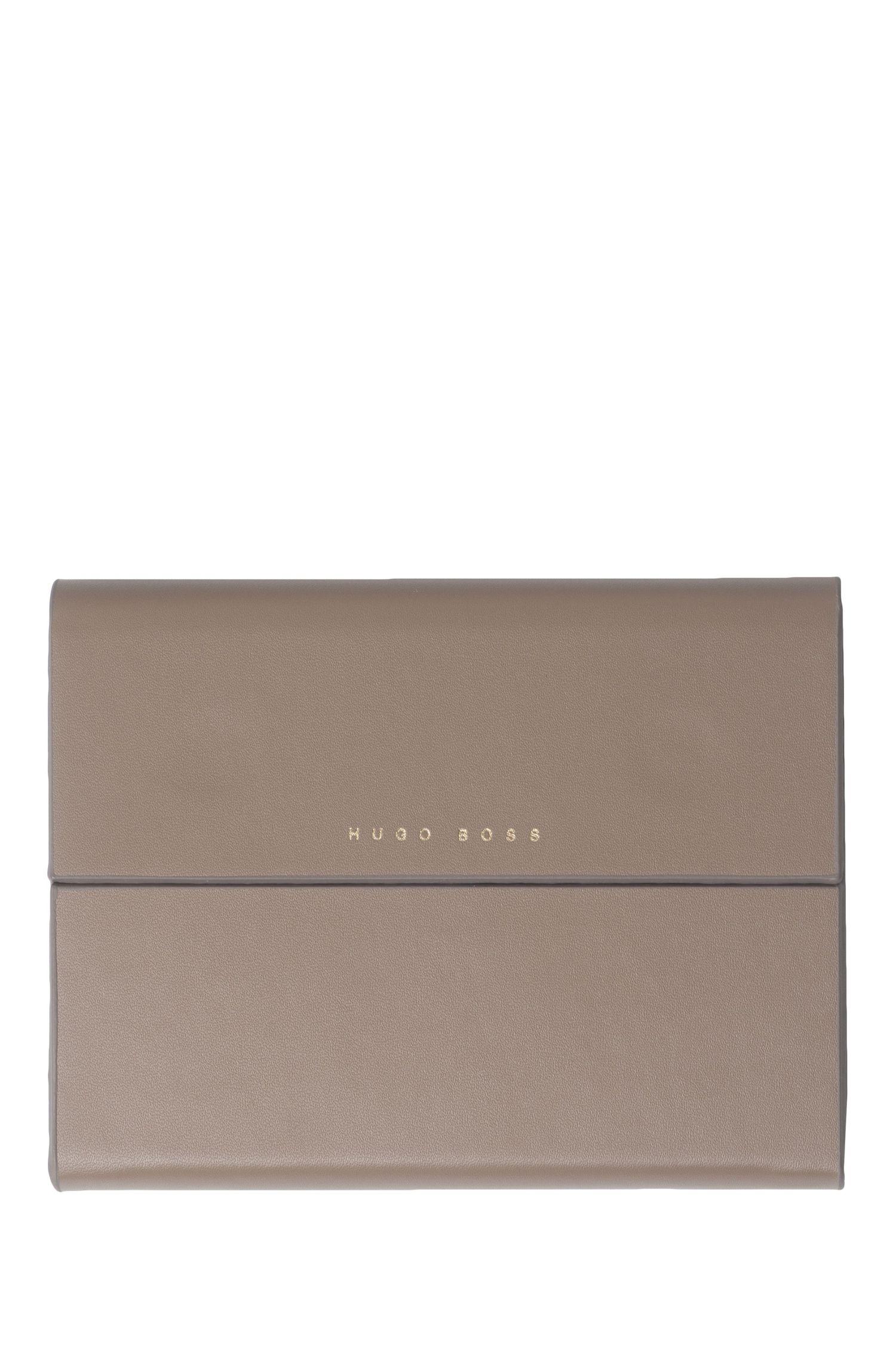 Cuaderno con funda en imitación de piel con grano