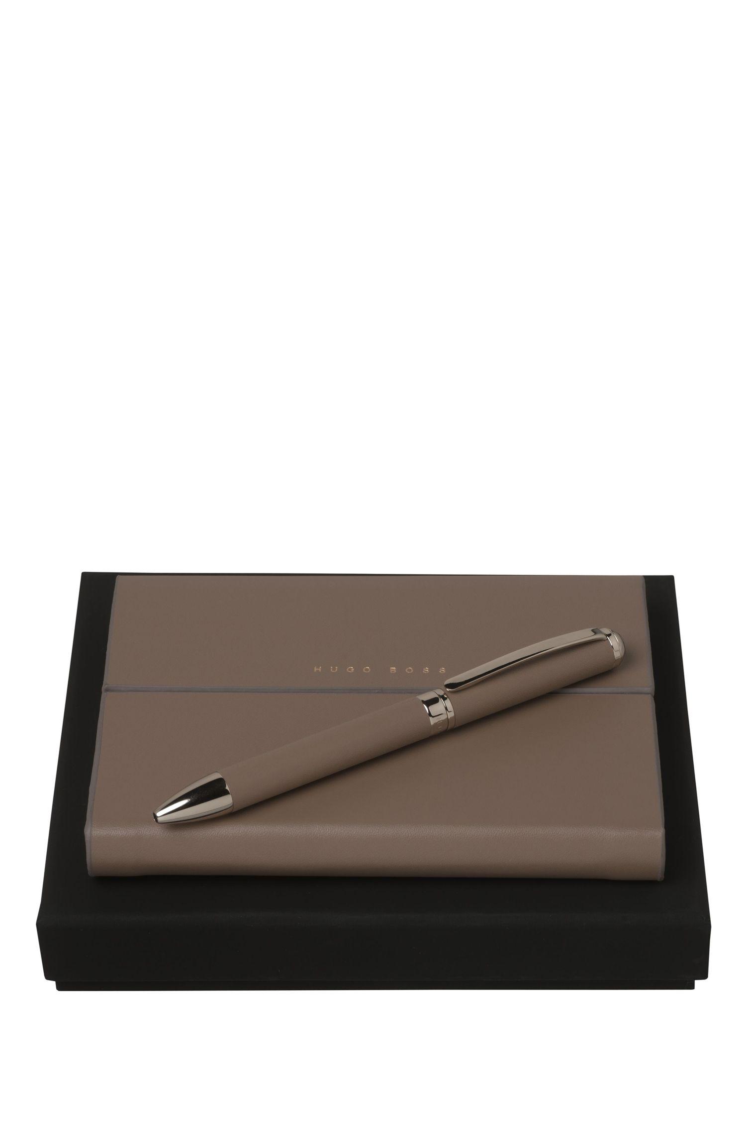 Set aus Notizbuch und Kugelschreiber: 'Verse Shell'