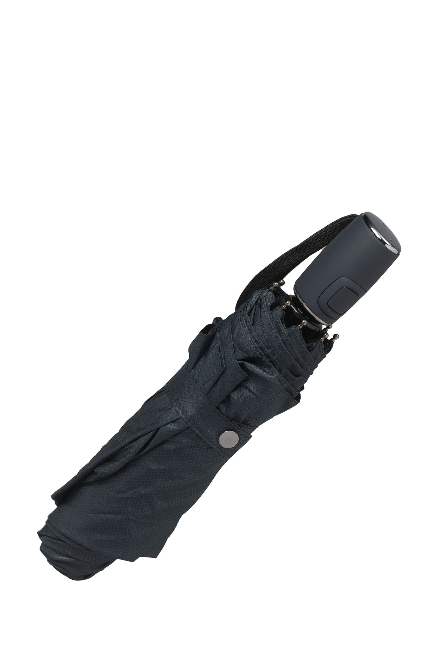 Dark-blue pocket umbrella with automatic release