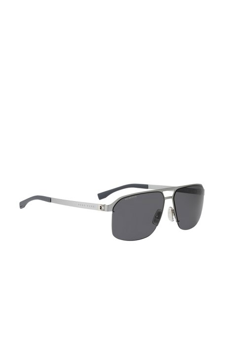 381ccd239af4 BOSS - Metal navigator sunglasses with polarised lenses: 'BOSS 0839/S'