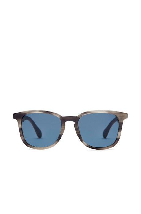 Sonnenbrille mit gemusterter Vollrandfassung und Holzbügeln: 'BOSS 0843/S' tsQO6nZ