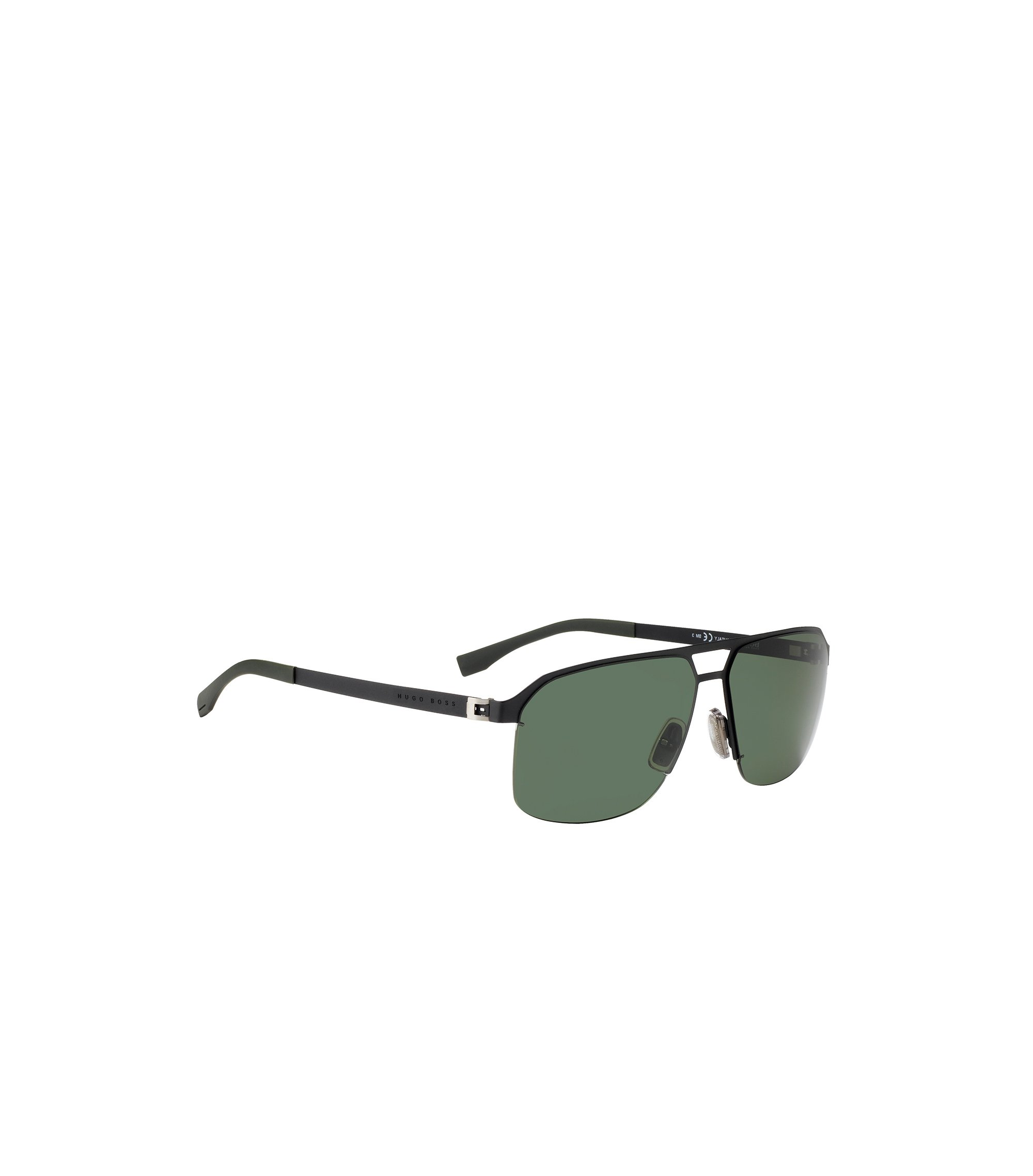 Metal navigator sunglasses with grey/green lenses: 'BOSS 0839/S', Assorted-Pre-Pack