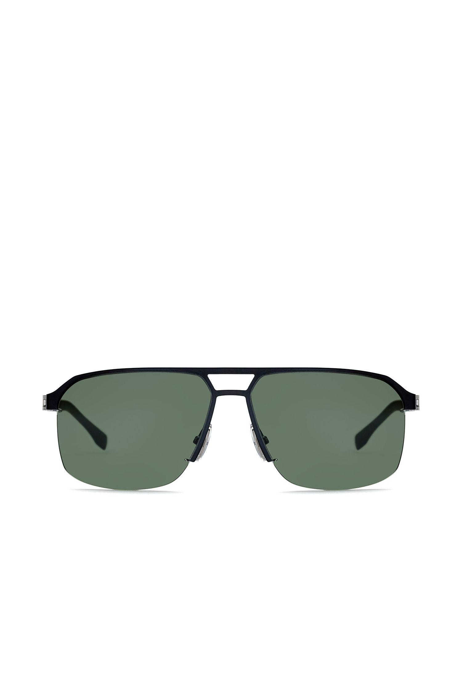 Occhiali da sole stile navigatore in metallo con lenti grigio-verdi: 'BOSS 0839/S'