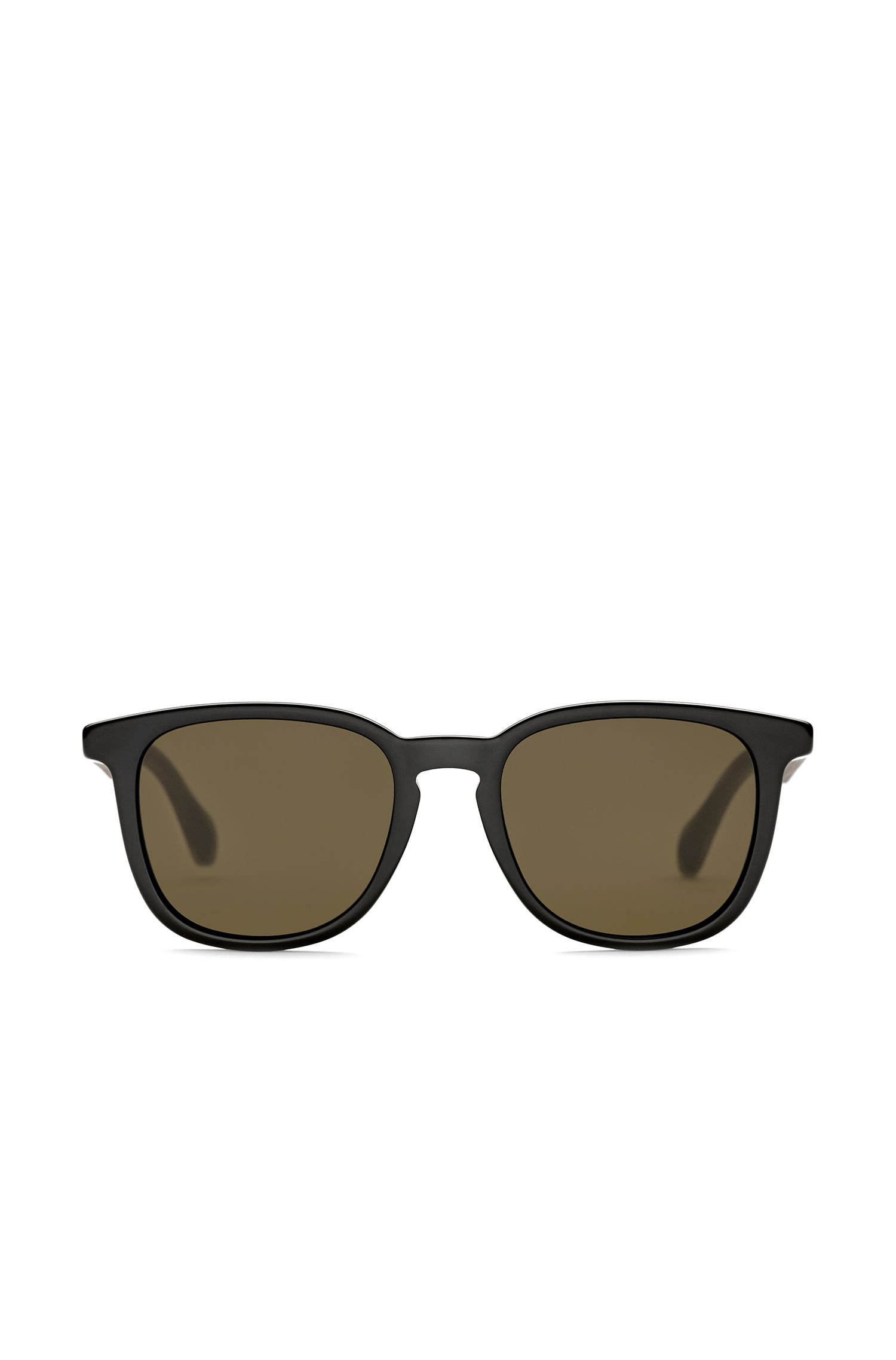 Acetate sunglasses with wooden temples