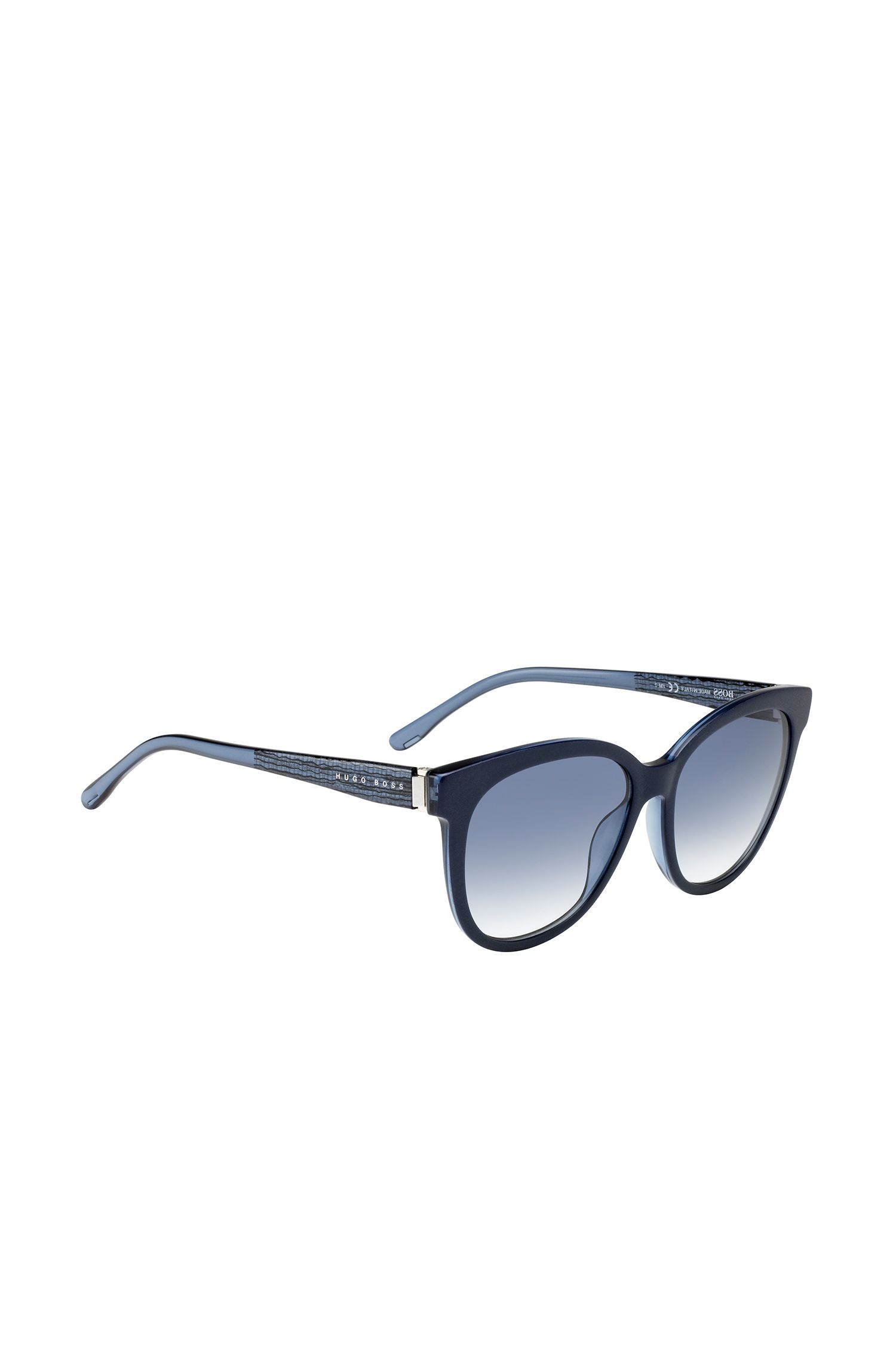 Sunglasses with fully-rimmed frames and transparent temples: 'BOSS 0849/S'
