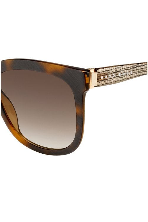 Hugo Boss - Sunglasses with fully-rimmed frames and transparent temples: 'BOSS 0850/S' - 2