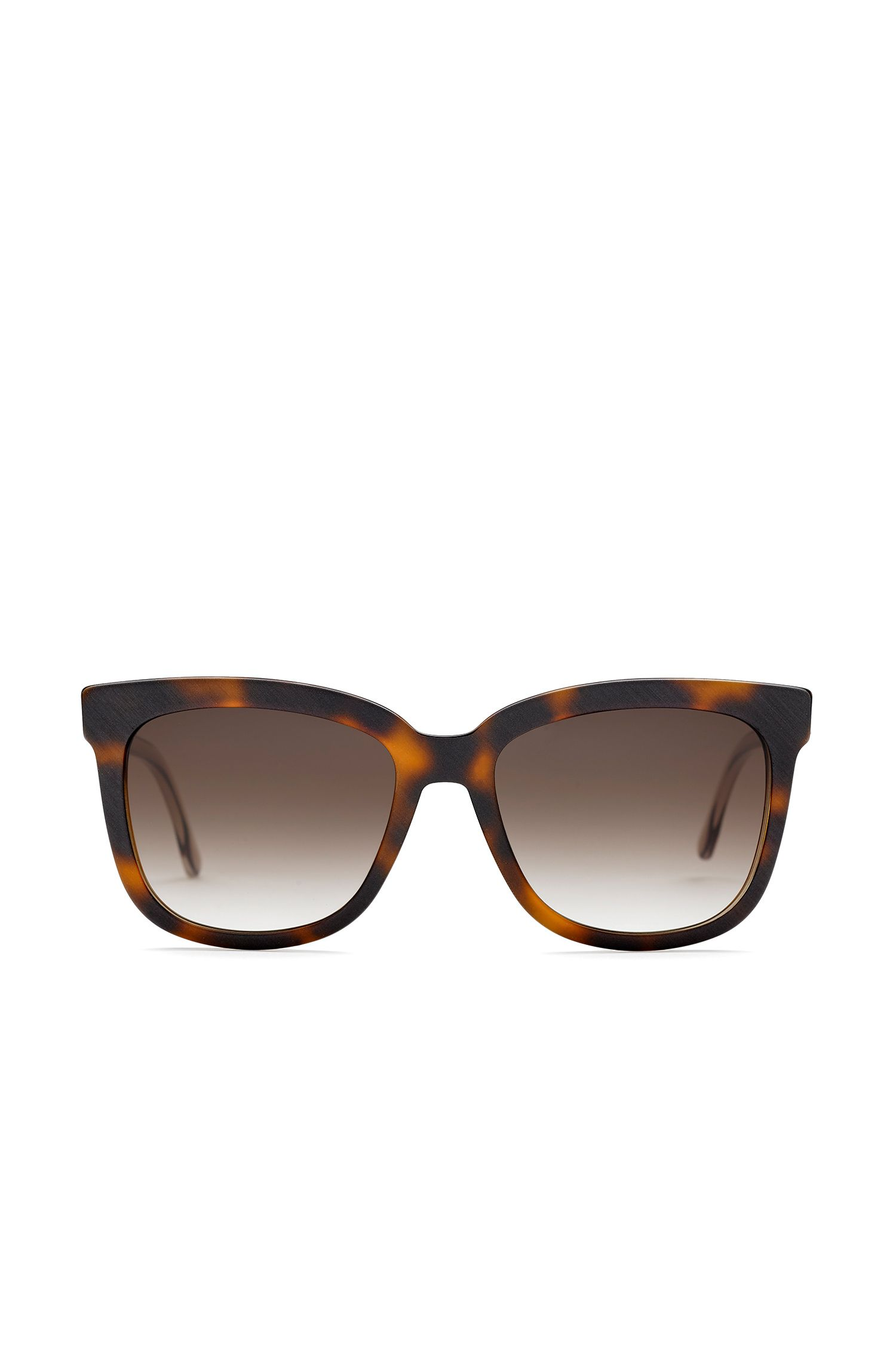 Sunglasses with fully-rimmed frames and transparent temples: 'BOSS 0850/S'