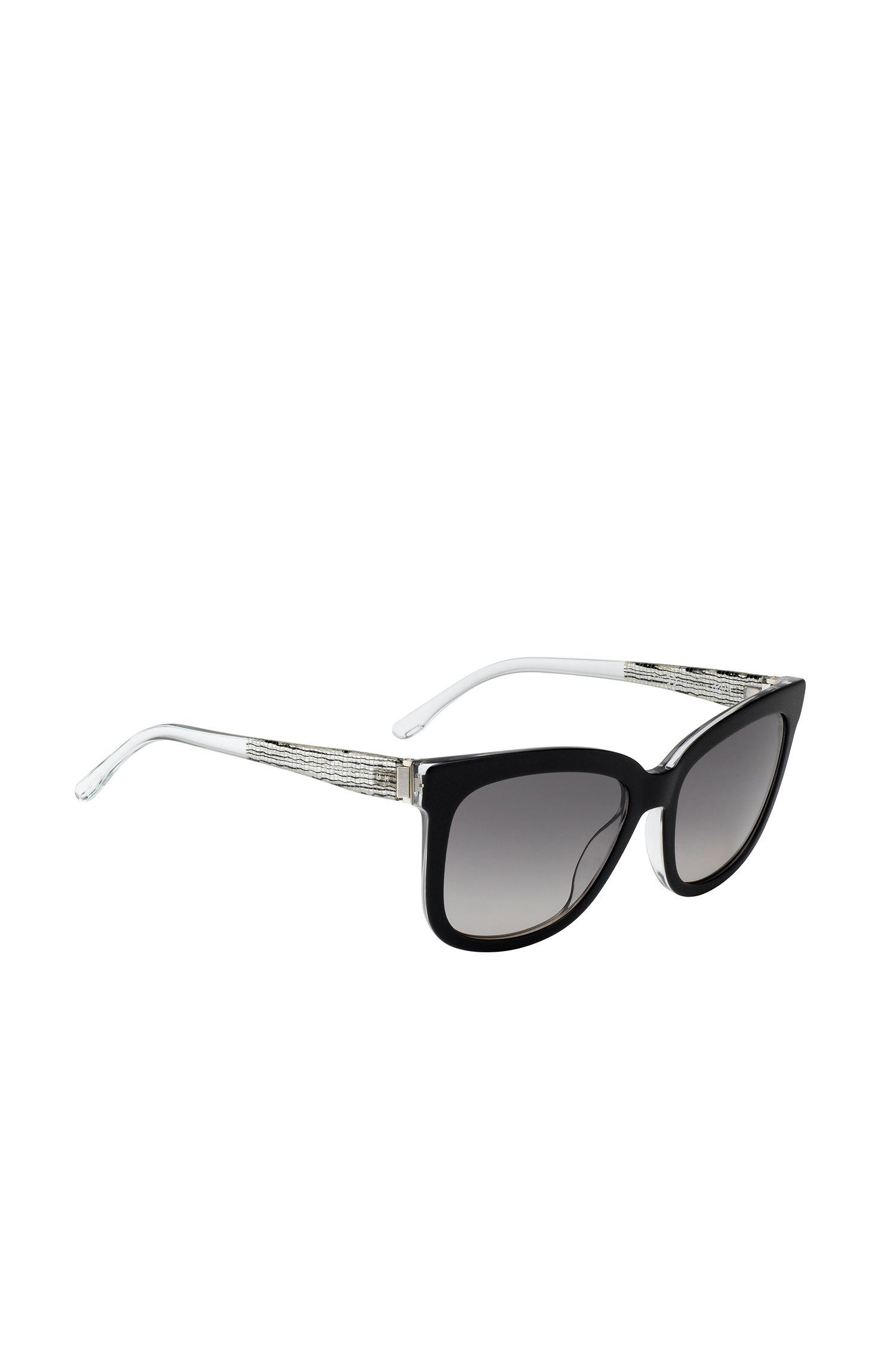 Zonnebril met volledig montuur en licht transparante poten: 'BOSS 0850/S'