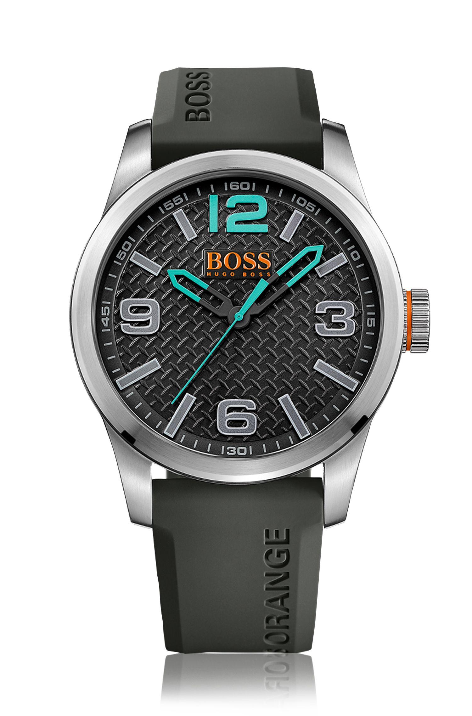Quarz-Armbanduhr mit Silikonarmband: 'PARIS'