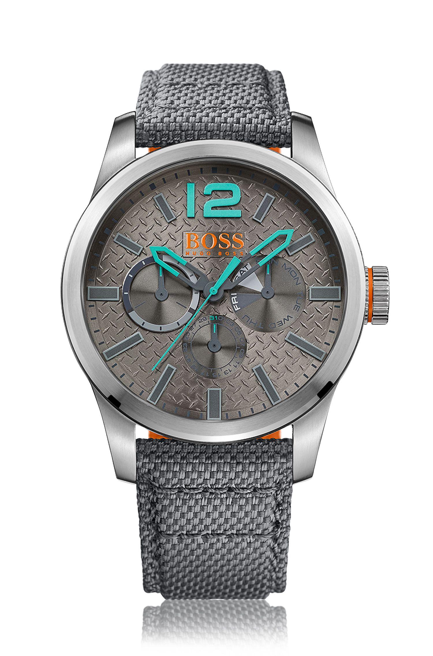 Multieye-Uhr mit Armband aus Kevlar-Gewebe: 'PARIS'
