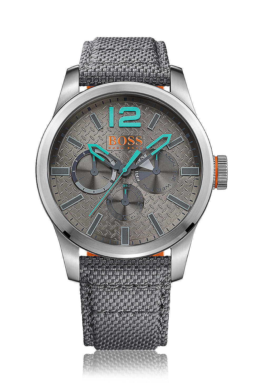 39e4b4f2045d BOSS - Reloj con indicadores y correa con tejido de Kevlar   PARIS