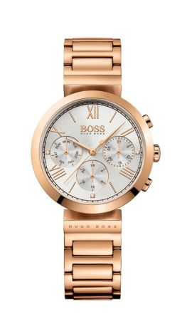 Three-hand watch in rose-gold-plated stainless steel, Assorted-Pre-Pack