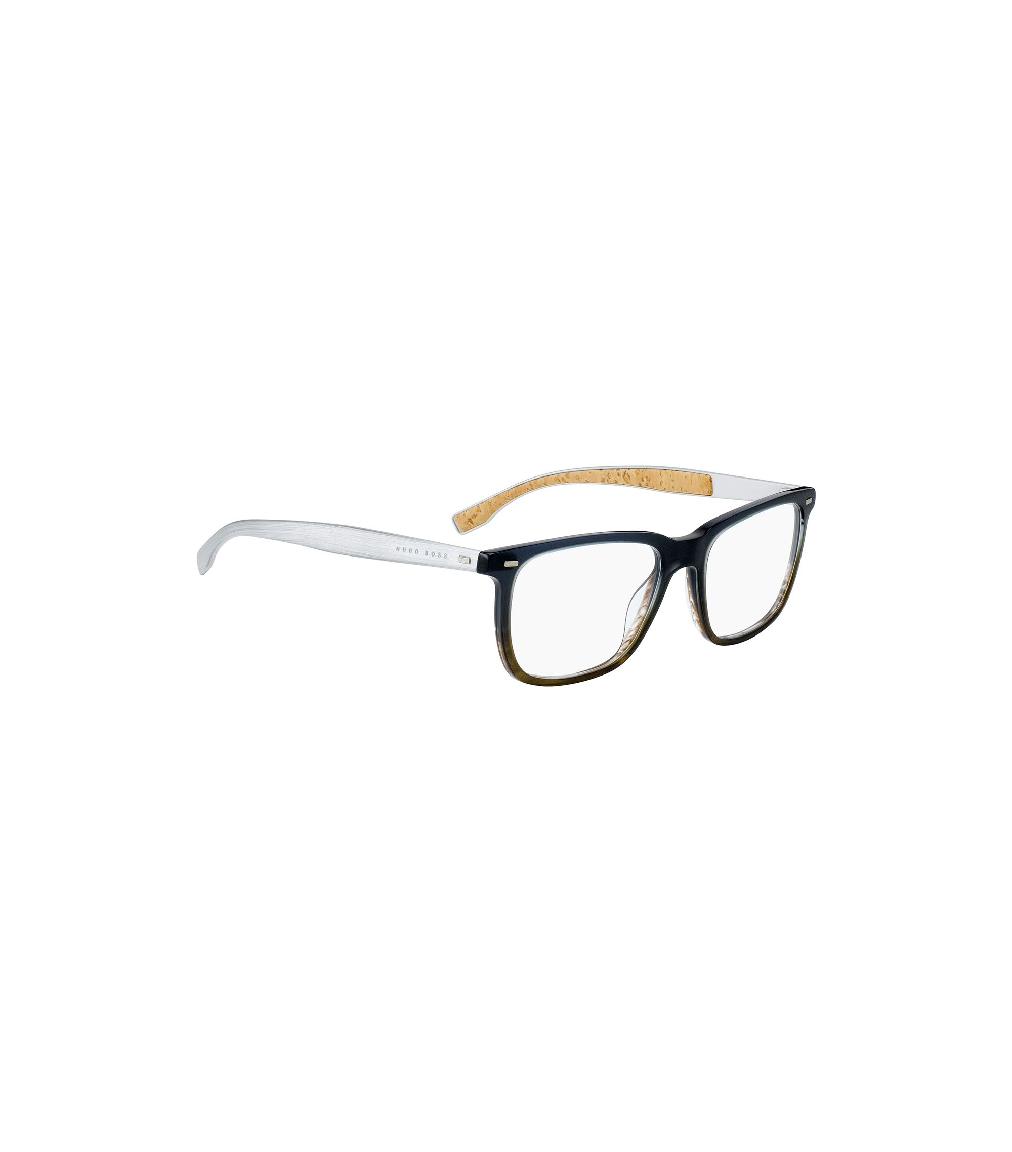 Gradient glasses with cork-lined arms, Grey