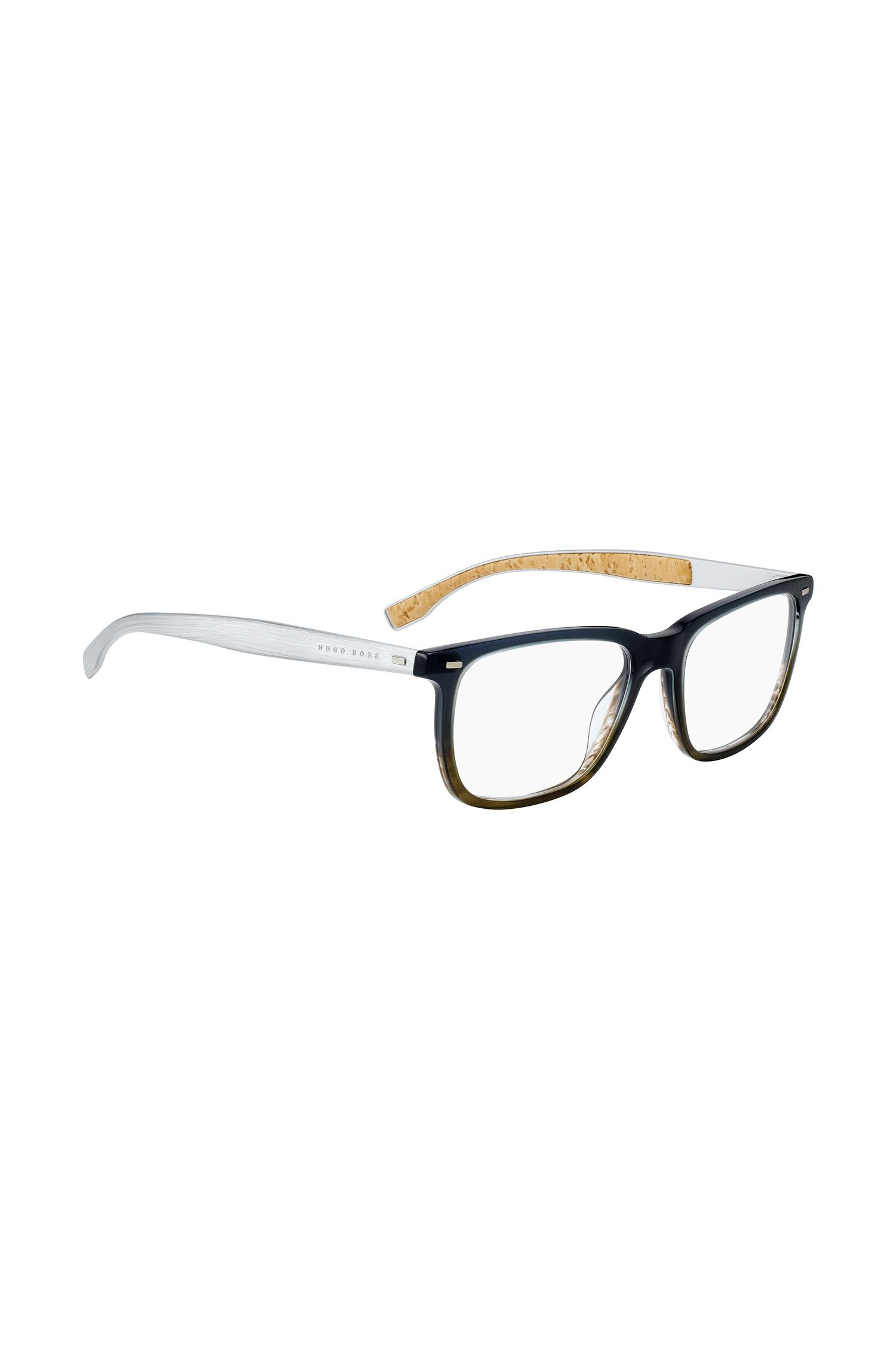 Gradient glasses with cork-lined arms