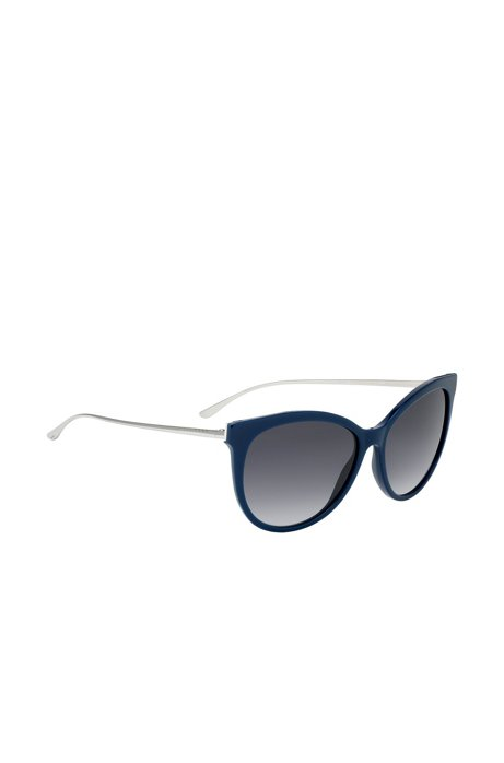 Cateye sunglasses with metal arms, Blue