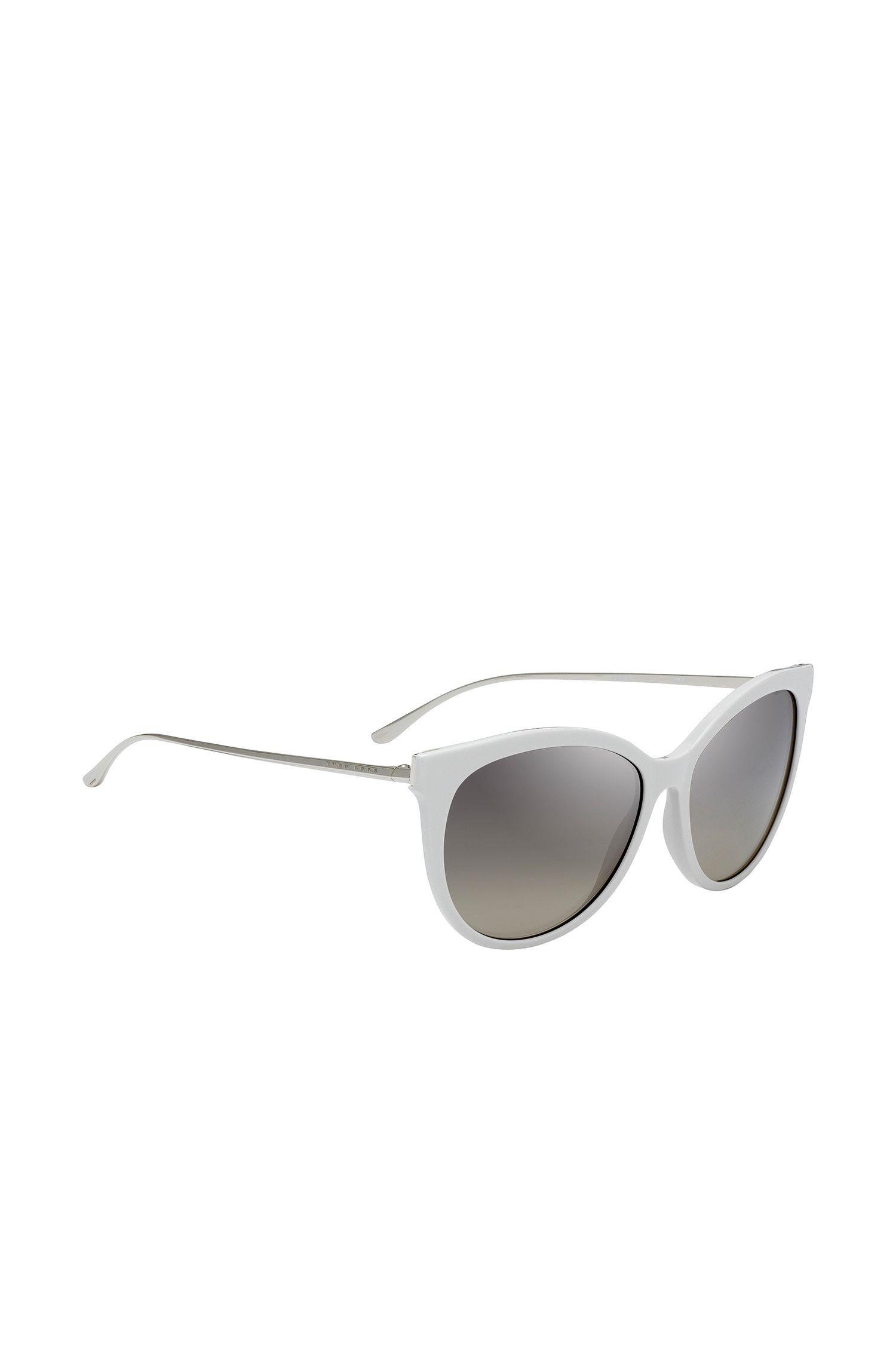 Cateye-Sonnenbrille aus Acetat mit schmalen Bügeln