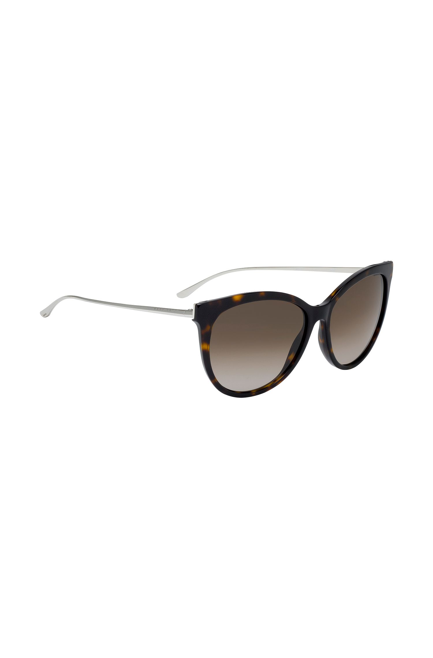 Cat-eye sunglasses with lasered logo