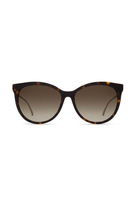 Cateye-Sonnenbrille aus Acetat mit gelasertem Logo vW9q5qwNGG