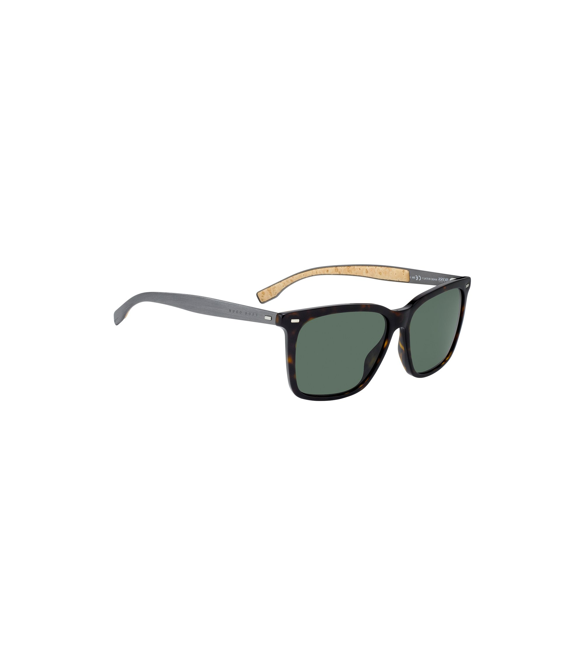 Sunglasses with cork-lined aluminium arms, Assorted-Pre-Pack