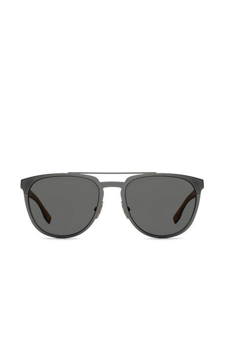 Metallene Sonnenbrille mit Korkbesatz IbhIW2D