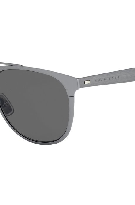Metallene Sonnenbrille mit Korkbesatz 3599pgQfpb