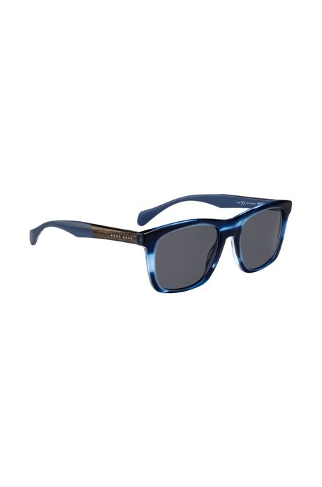 BOSS - Sunglasses with coloured horn-effect frames