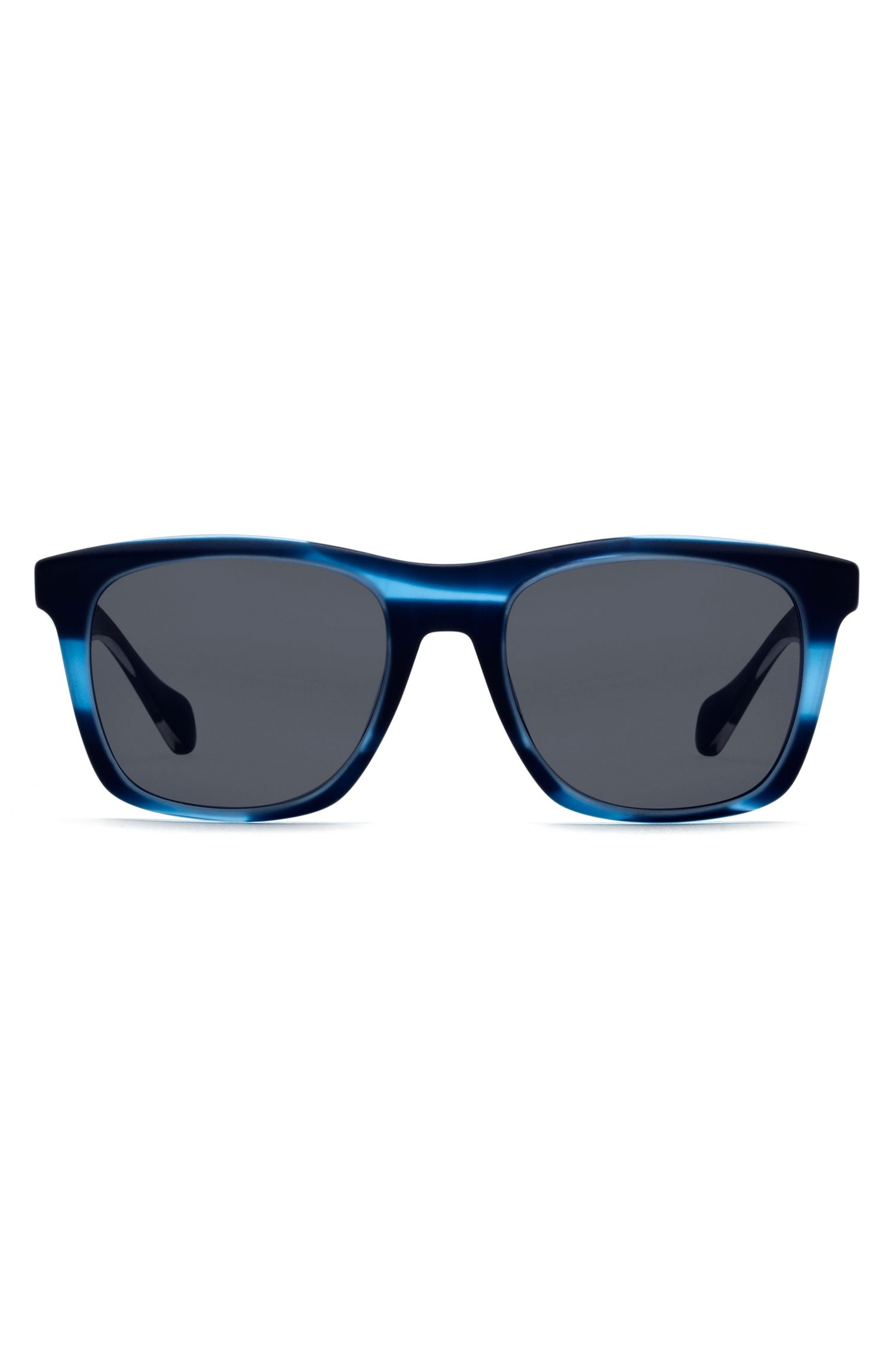 Sunglasses with coloured horn-effect frames, Blue