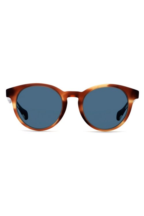 Hugo Boss - Gafas de sol de montura redonda con aplique de madera - 3