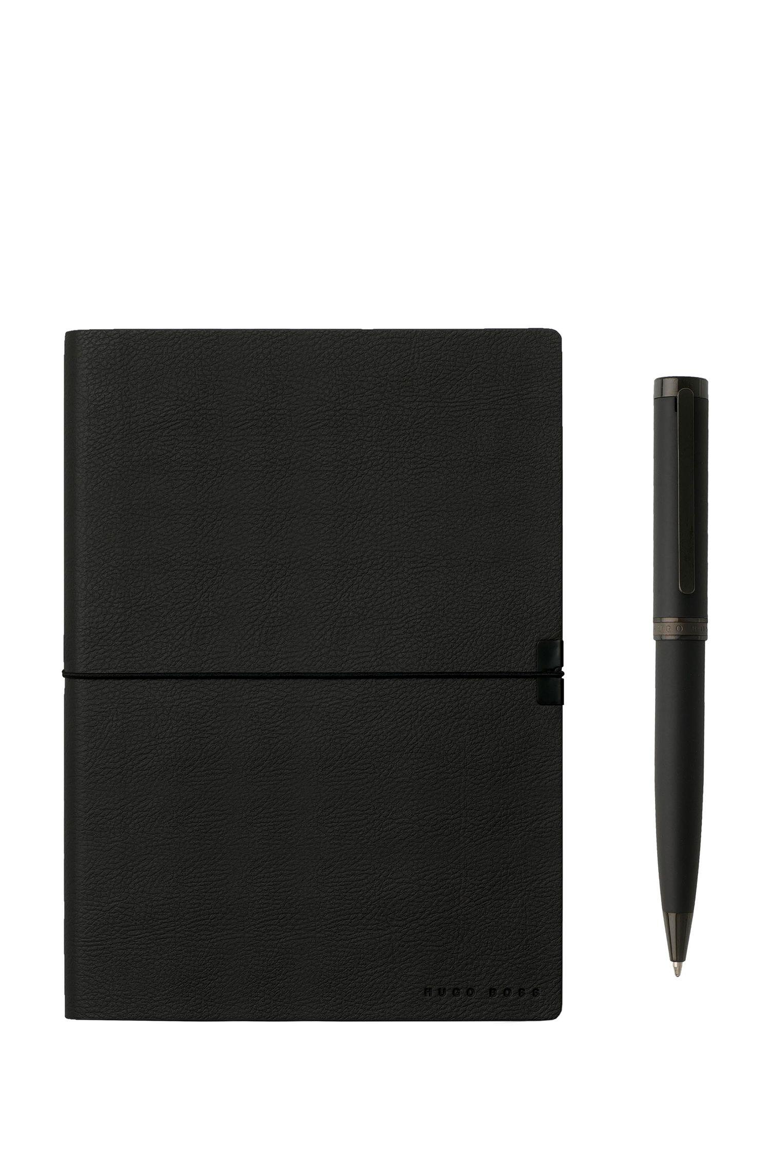 Geschenk-Set mit DIN-A5-Notizbuch und Kugelschreiber