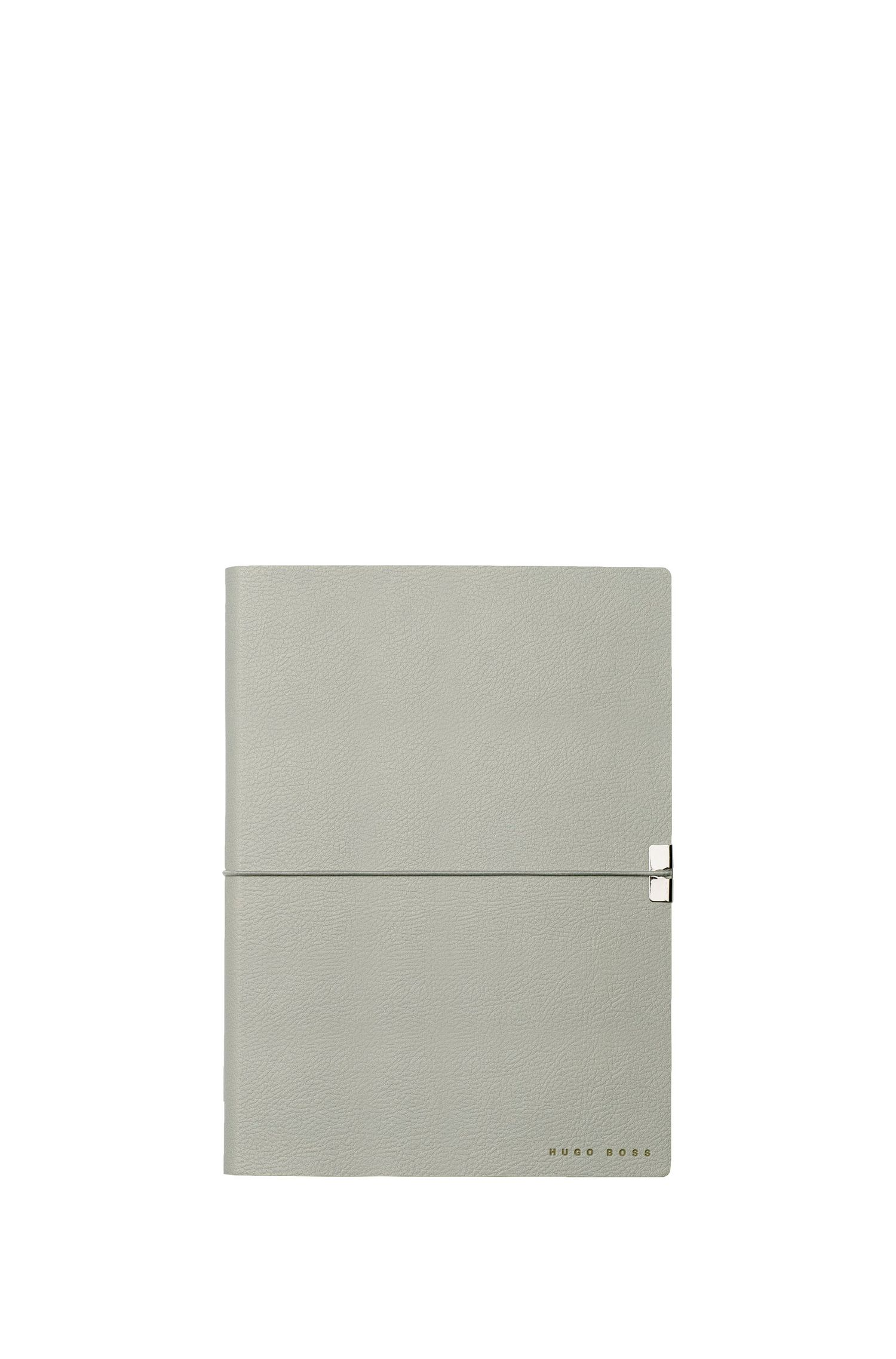 A5 notepad in grey faux leather