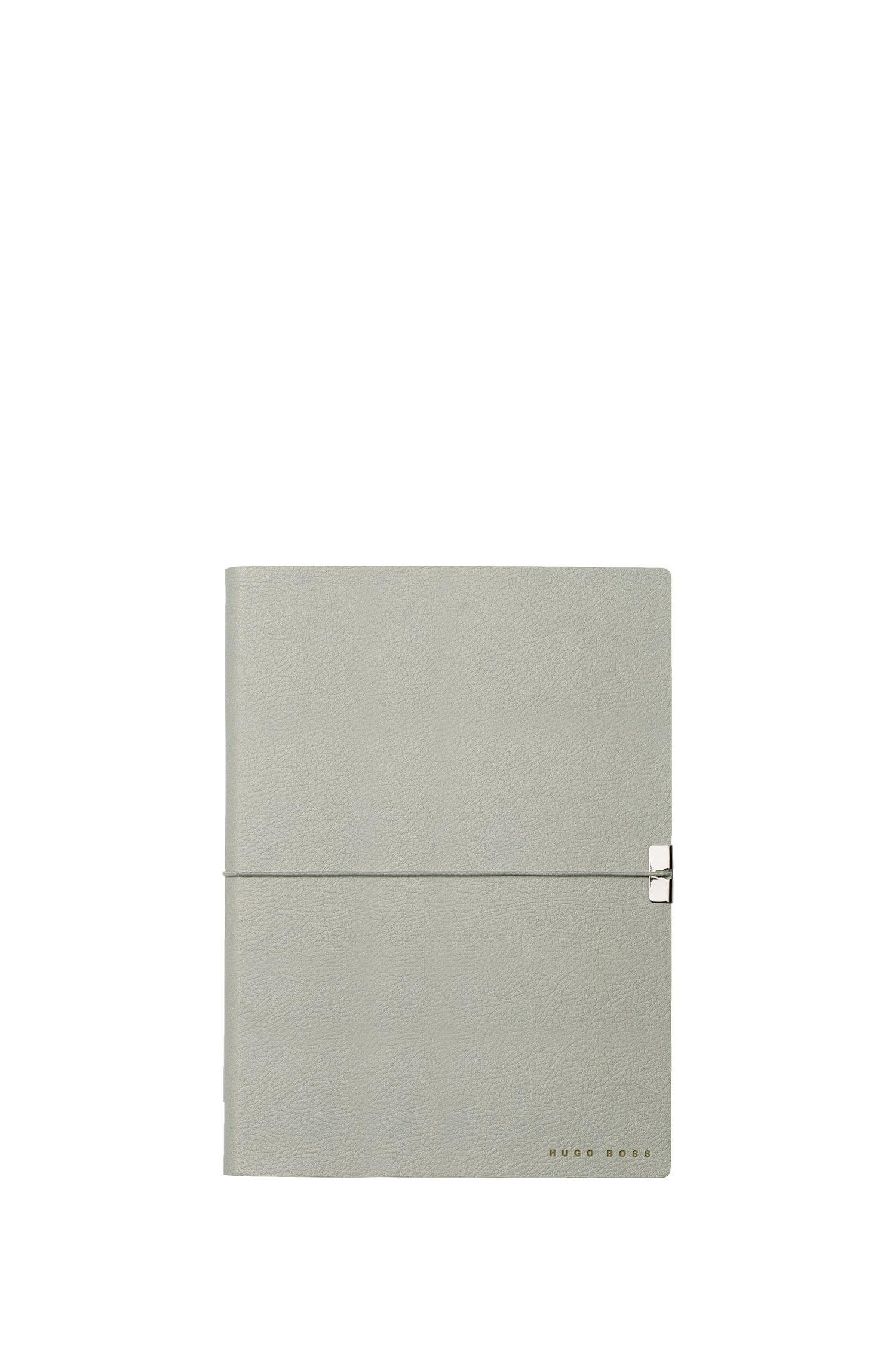 Cuaderno A5 en piel sintética gris