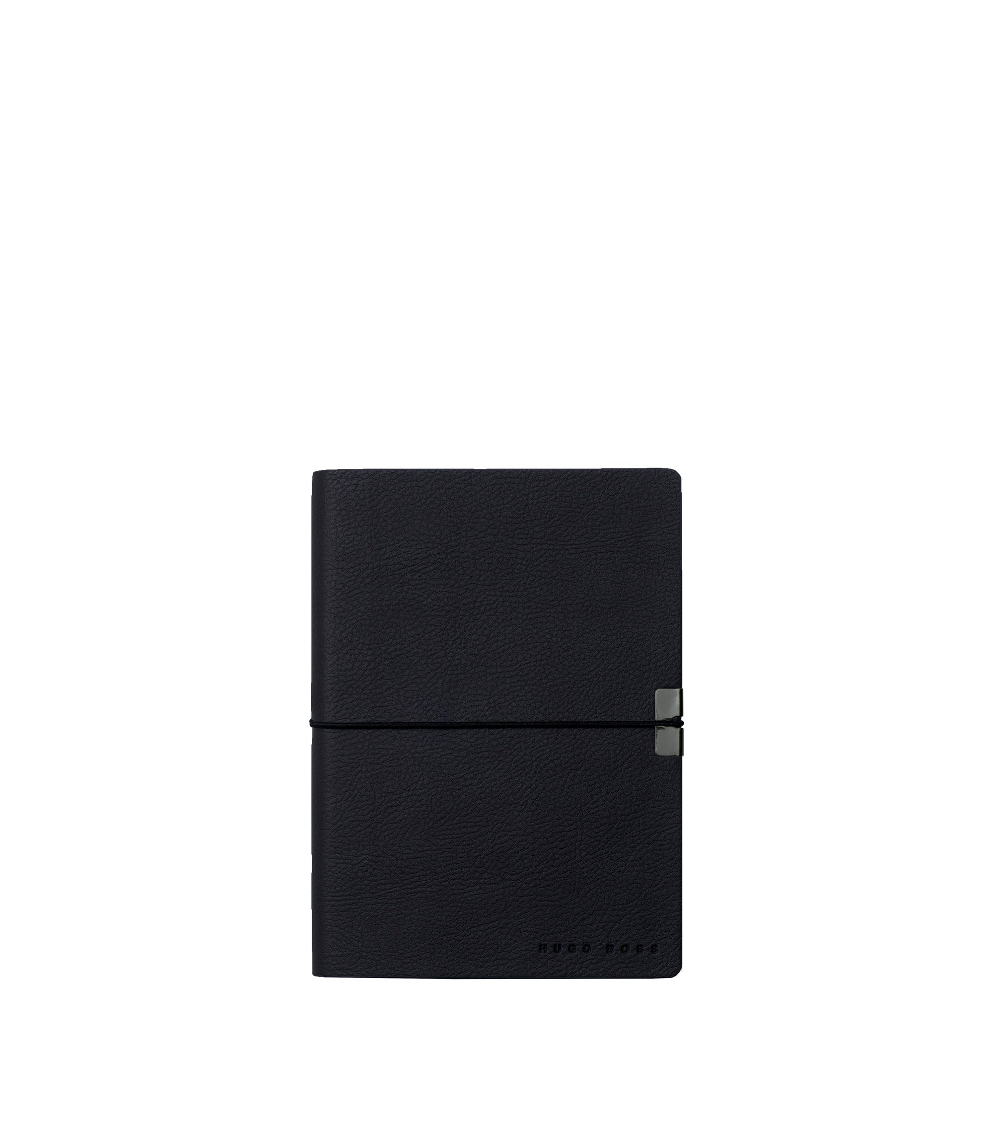 A6 notepad in dark blue faux leather, Dark Blue