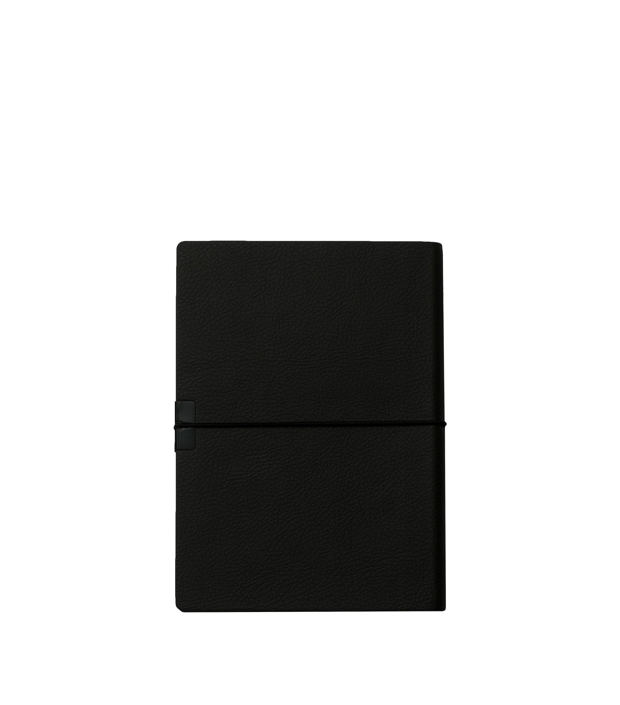 A6 black faux-leather notepad, Black