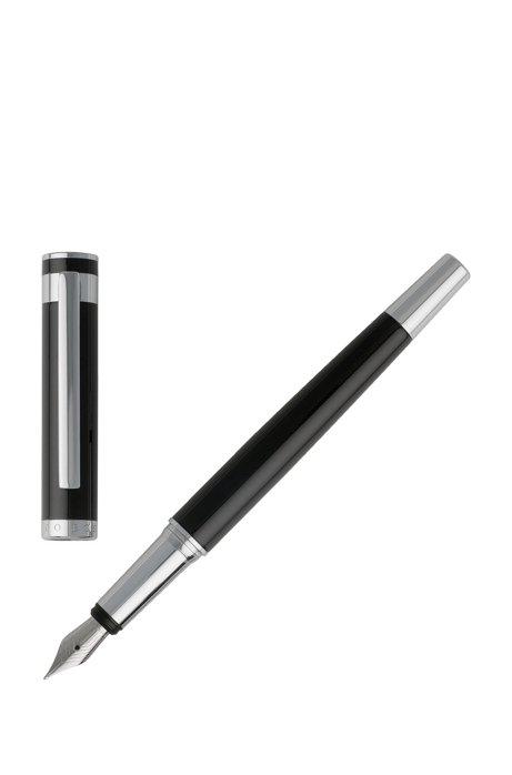 Fountain pen in glossy black lacquer, Black