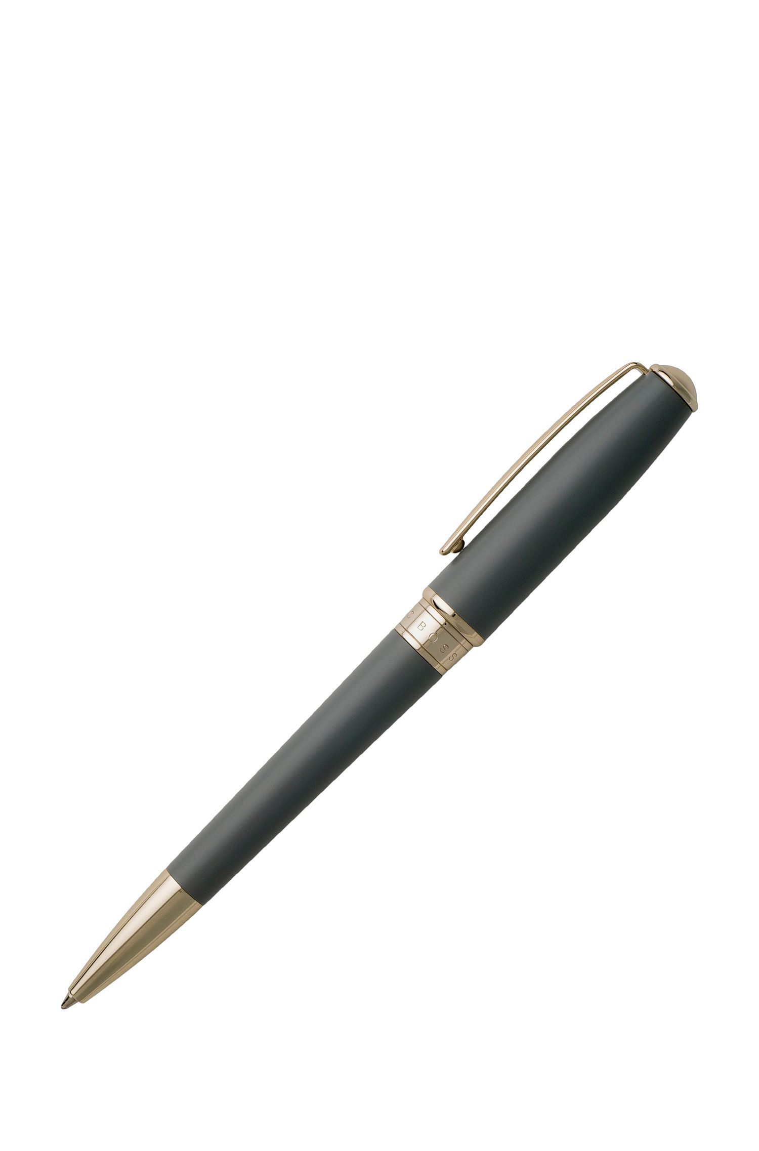 Ballpoint pen in matt grey lacquer, Grey