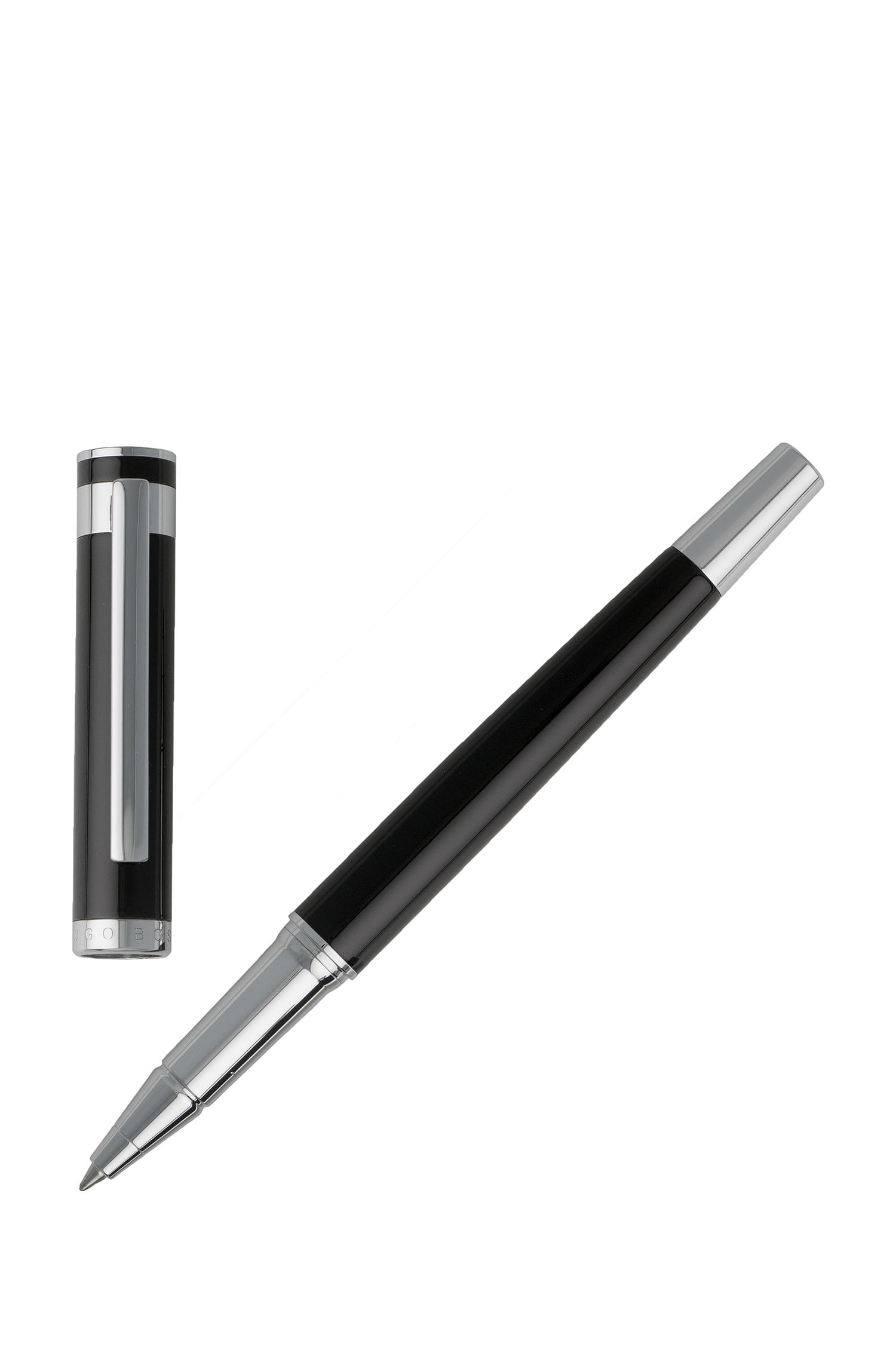 Rollerball pen in glossy black lacquer