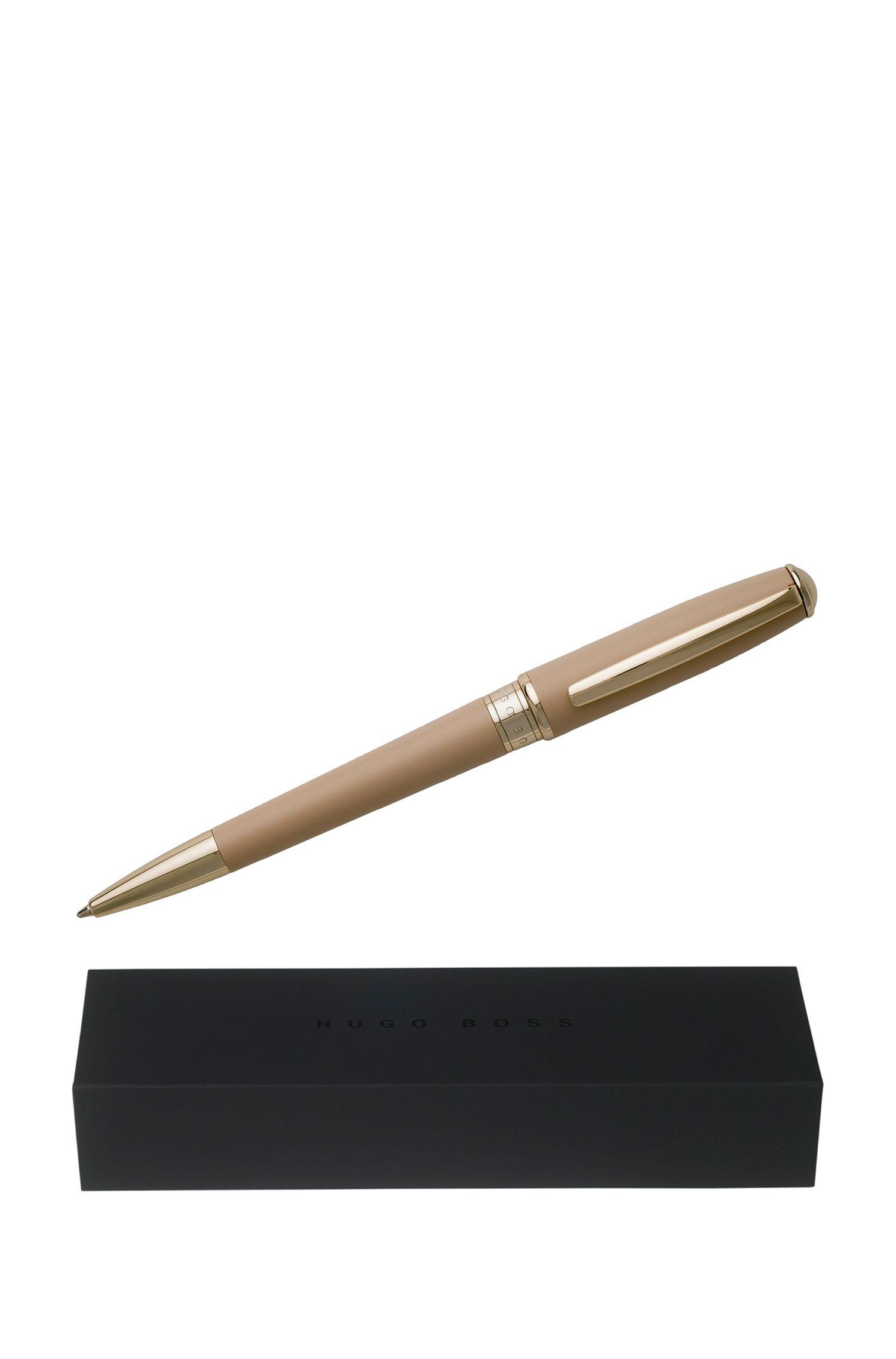 Bolígrafo con lacado mate en tono nude, Beige