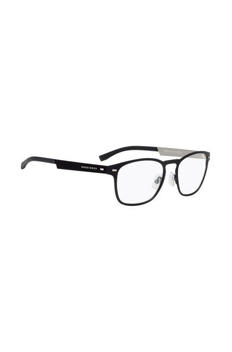 BOSS - Lightweight glasses with black metal frames